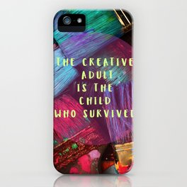 Express your inner creative child! iPhone Case