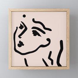 Lady Face Framed Mini Art Print