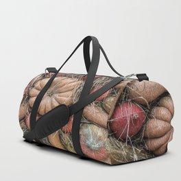 Pumpkins on hay Duffle Bag