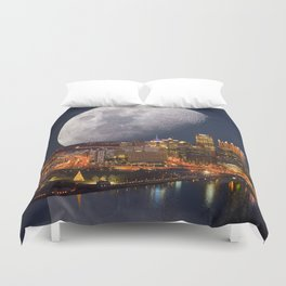 Spacey Pittsburgh Duvet Cover