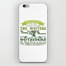 Writers, Artists, Dreamers iPhone Skin