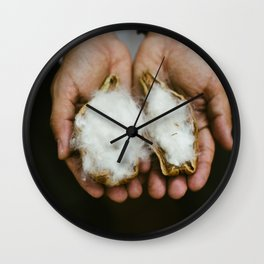 Wild Cotton Wall Clock
