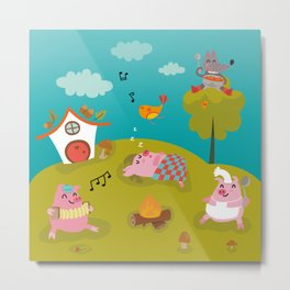 Three little PIG Metal Print