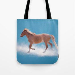Walking on clouds over the blue sky - version #2 - #society6 #buyart Tote Bag