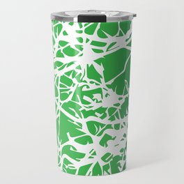 White Green Branches Travel Mug