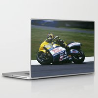 honda Laptop & iPad Skins featuring VALENTINO ROSSI RIDING A HONDA by Don Hooper