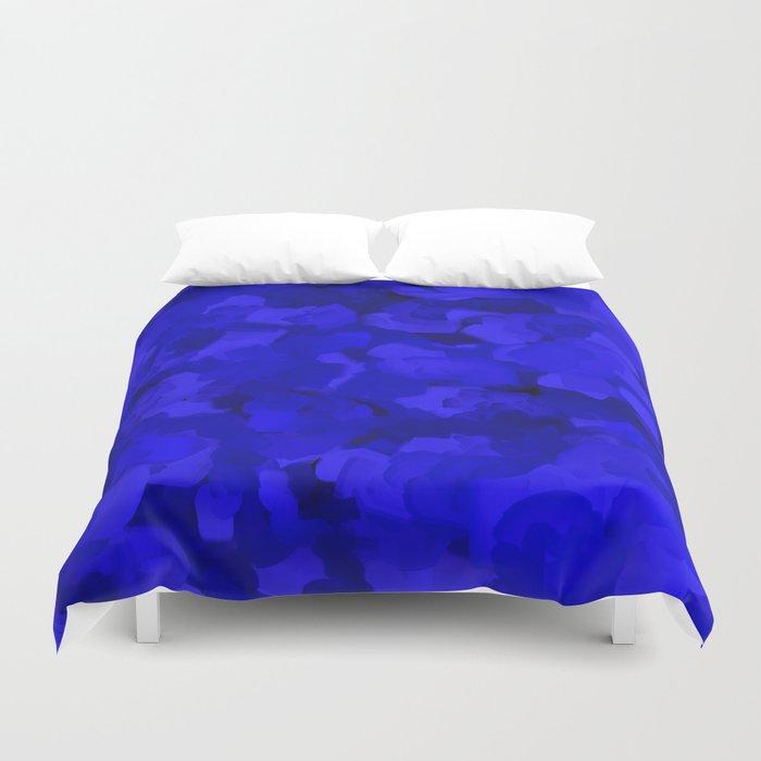 Rich Cobalt Blue Abstract Bettbezug