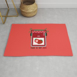 This is My (Strawberry) Jam Rug