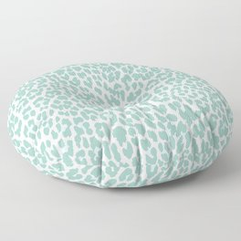 Mint Leopard Print Floor Pillow