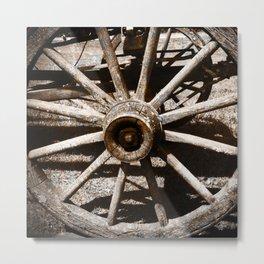 Jed's Wagon Wheel Metal Print