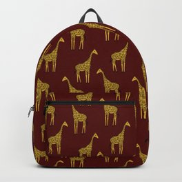giraffes on red Backpack