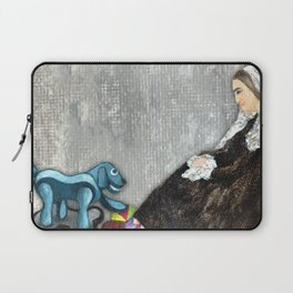 Woman with Robotic Dog Laptop Sleeve