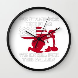 We Stand For The Flag Wall Clock