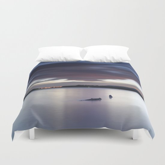 """Night dreams..."" At the lake... Duvet Cover"