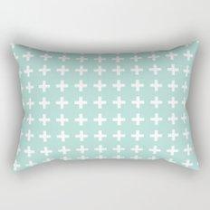 Plus pattern in mint swiss cross design Rectangular Pillow