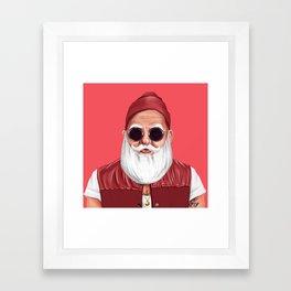 Hipstory -  Santa Claus Framed Art Print