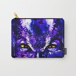 great horned owl bird close up wsdb Carry-All Pouch