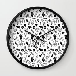 Skull Pattern - Whiteskull Wall Clock