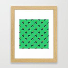Afro Pick Framed Art Print