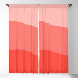 Living Coral Sushi Salmon Abstract Blackout Curtain