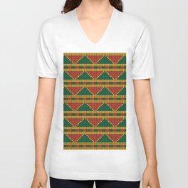 Africa-inspired pattern Unisex V-Neck