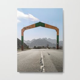 Gateway to the Mountains Metal Print