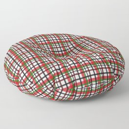 Christmas Plaid Floor Pillow