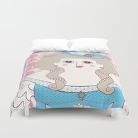 marie antoinette Duvet Covers featuring Marie Antoinette by Late Greats by Chen Reichert