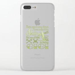 Skiing Gigi Clear iPhone Case