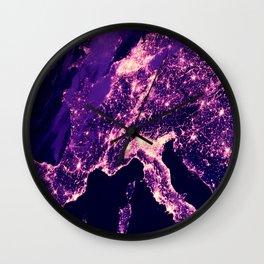 Italian Night Lit Up Wall Clock