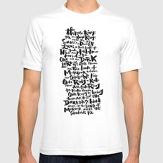 One Ring  MEDIUM White Mens Fitted Tee