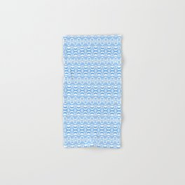 Dividers 07 in Light Blue over White Hand & Bath Towel