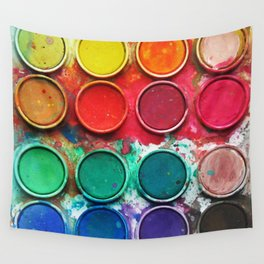 Paintbox Color Palette Wall Tapestry