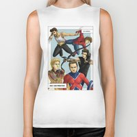 superheroes Biker Tanks featuring 1D superheroes by Aki-anyway