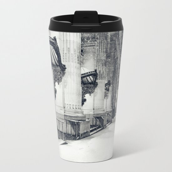 New York City Snow Globe Metal Travel Mug