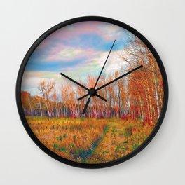 Sunset Aspens Wall Clock