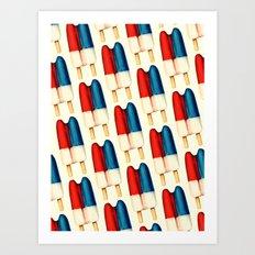Popsicle Pattern - Double Art Print