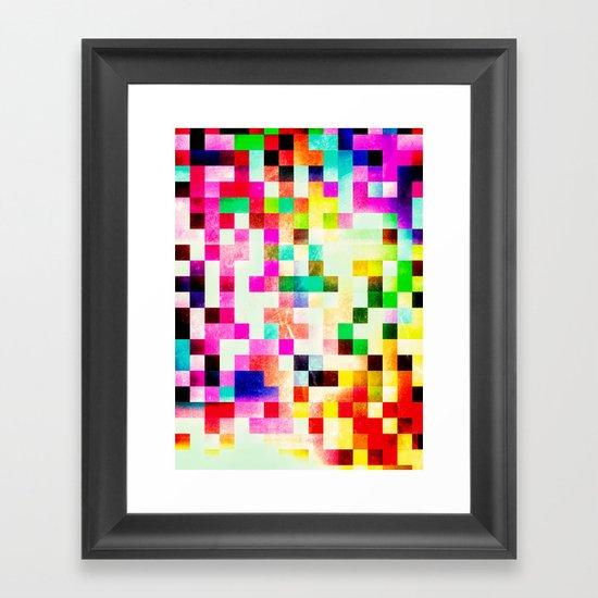 GROWN UP PIXELS Framed Art Print