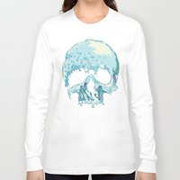 silent Long Sleeve T-shirts featuring Silent Wave by Huebucket