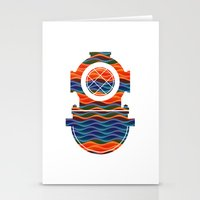 scuba Stationery Cards featuring Scuba Collor by Guilherme Rosa // Velvia