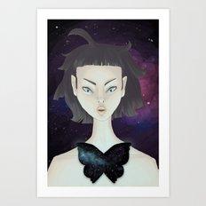 Space Moth Art Print
