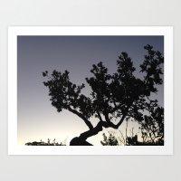 Subtle tree Art Print