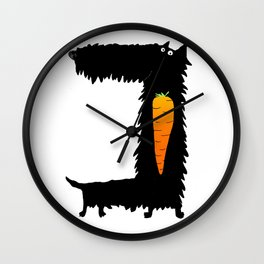 Carrot Crunching Scottie Dog Wall Clock
