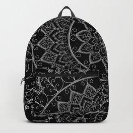 Black and White Lace Mandala Backpack