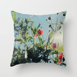 poppy flower no14 Throw Pillow
