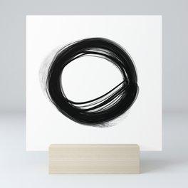 Minimal Circle black and white Mini Art Print