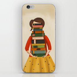 Marlowe Visits the Library iPhone Skin