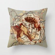 Honey & Sorrow (grey) Throw Pillow
