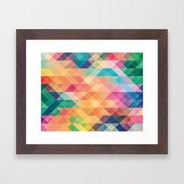 Colorful polygons Framed Art Print