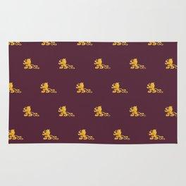 Royal Gryphons in Purple Rug